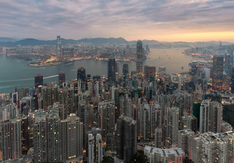 Victoria Harbor - Hong Kong royalty free stock photos