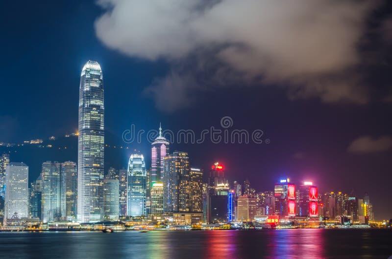 Victoria Harbor. Night Scene of Victoria Harbor, Hong Kong stock images
