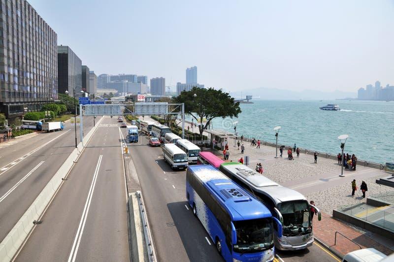 Victoria Harbour de centre de Œfinancial de ¼ d'ï de Hong Kong photo libre de droits