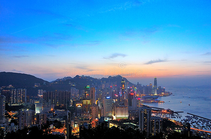Victoria Harbour in HK royalty free stock image