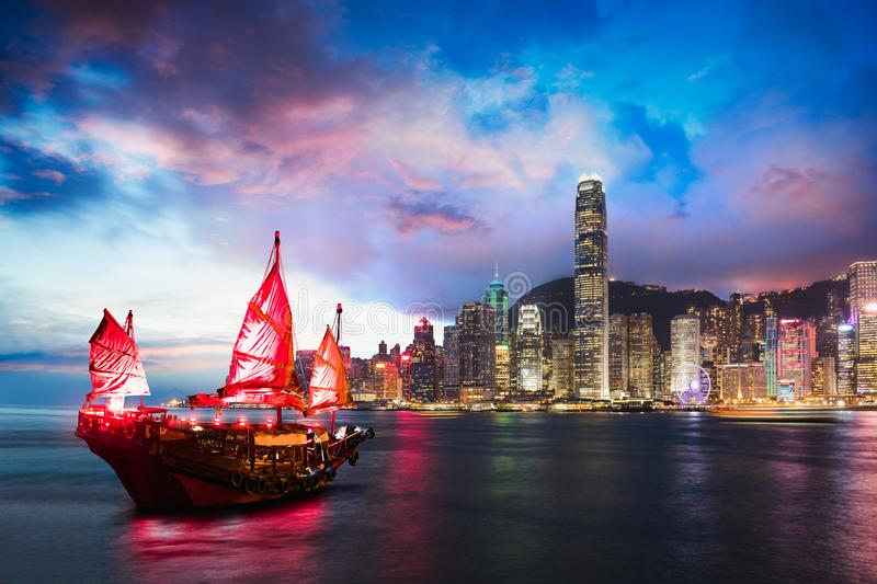 Victoria Harbour royalty free stock image