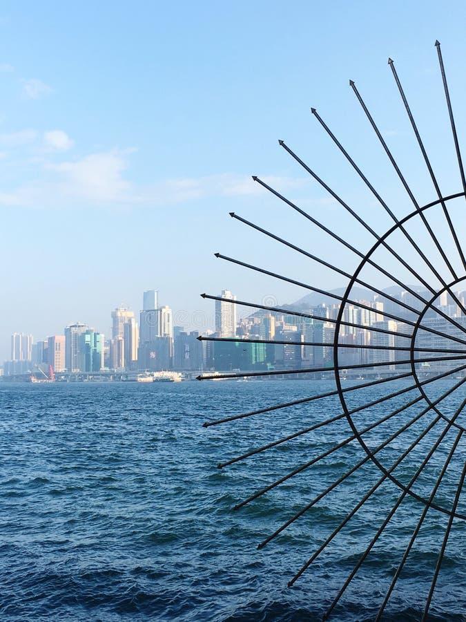 Victoria Harbour View en Hong Kong fotografía de archivo