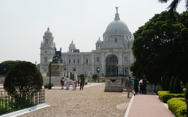 Victoria herdenkingscalcutta India royalty-vrije stock foto's