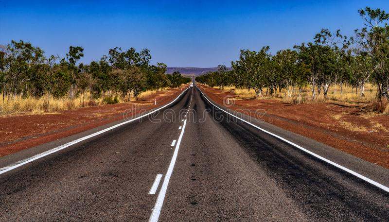 Victoria Highway Kimberleys. In northern Western Australia population is sparse, no more so than the remarkable Kimberleys, where roads are rarer royalty free stock photos