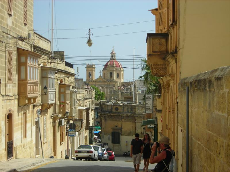 Victoria huvudstad av Gozo, Malta royaltyfri fotografi