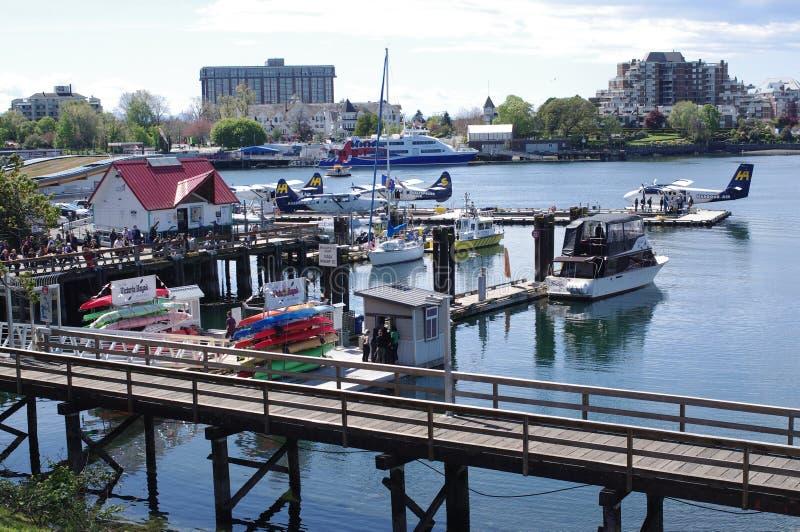 Victoria inre hamn, British Columbia, Kanada arkivfoto