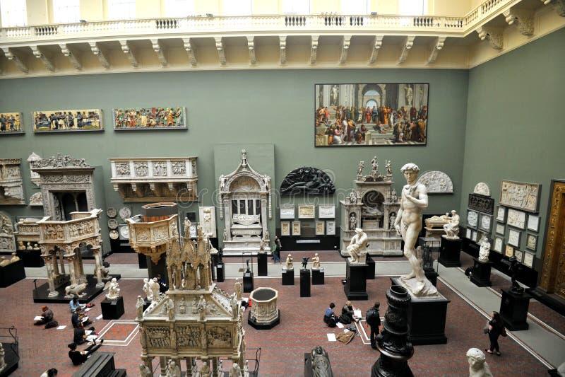 Victoria intérieure et Albert Museum à Londres, Angleterre photographie stock libre de droits