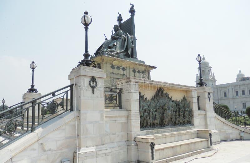 Victoria memorial Calcutta India. Monument infront of Victoria memorial Calcutta India 2011 stock photography