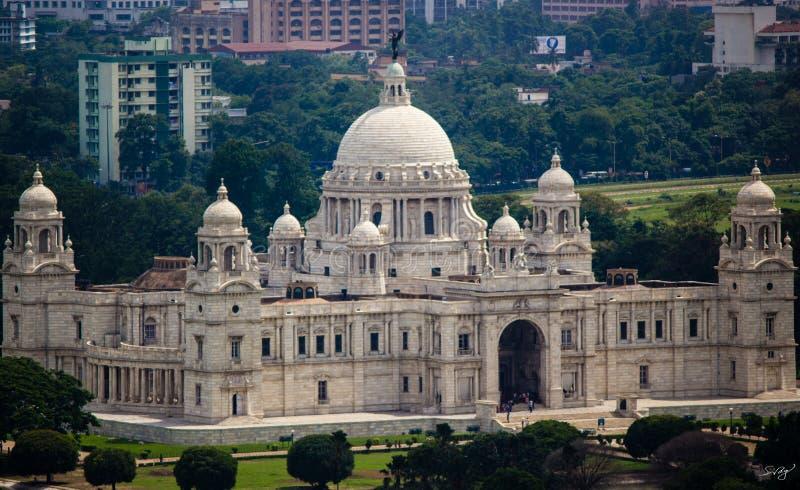 Victoria Memorial Hall, Calcutta fotografia stock libera da diritti