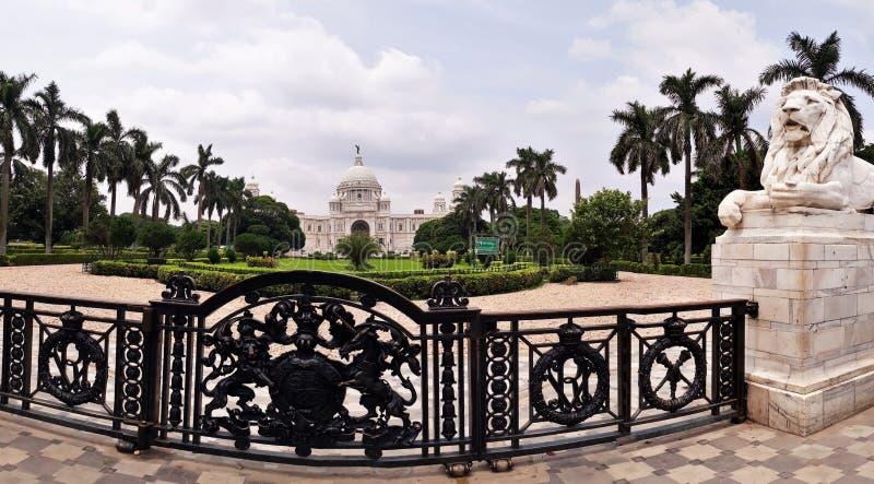 Victoria Memorial Hall i Kolkata, West Bengal, Indien royaltyfria foton