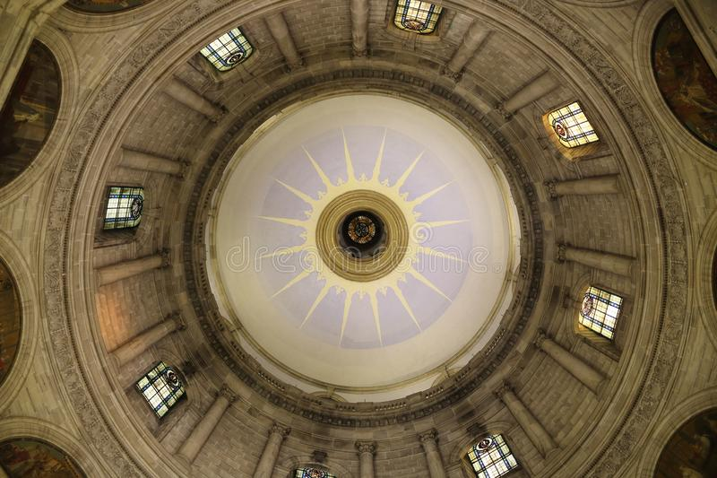 Victoria memorial hall roof dome interior stock photos