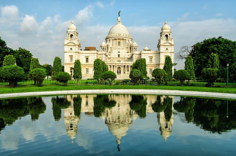 Victoria Memorial i Indien royaltyfri fotografi