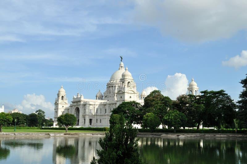 Victoria Memorial i Kolkata. arkivbilder