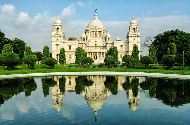 Victoria Memorial in India royalty free stock photography