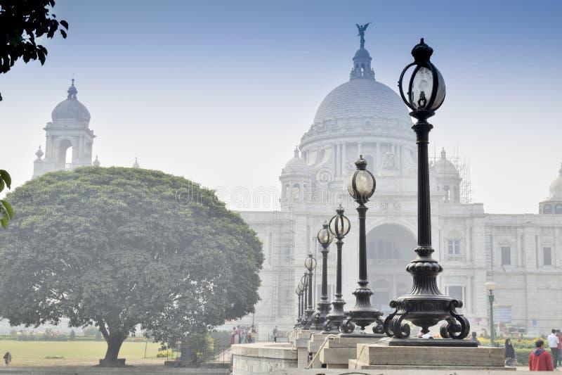 Victoria Memorial, Kolkata, Índia - monumento histórico foto de stock royalty free