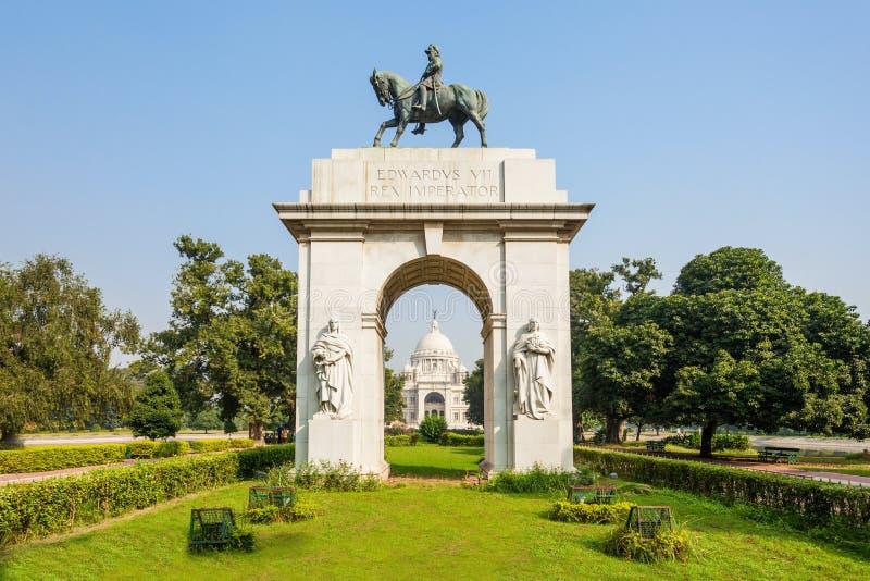 Victoria Memorial, Kolkata. Entrance gate at Victoria Memorial, it is a british building in Kolkata, West Bengal, India stock images