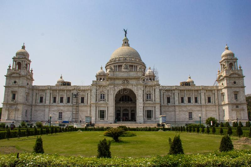 Victoria Memorial in Kolkata. The front of the Victoria Memorial in Kolkata, India stock image