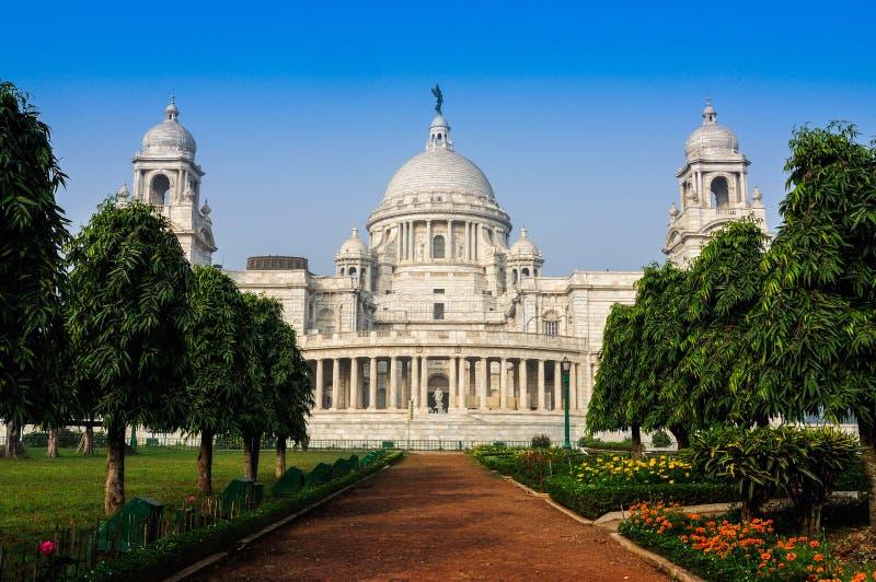 Victoria Memorial Kolkata, Indien – gränsmärkebyggnad. royaltyfri fotografi