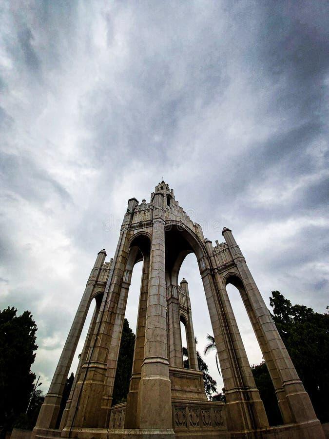 Victoria memorial van het bedrijf baag allahabad india royalty-vrije stock foto's
