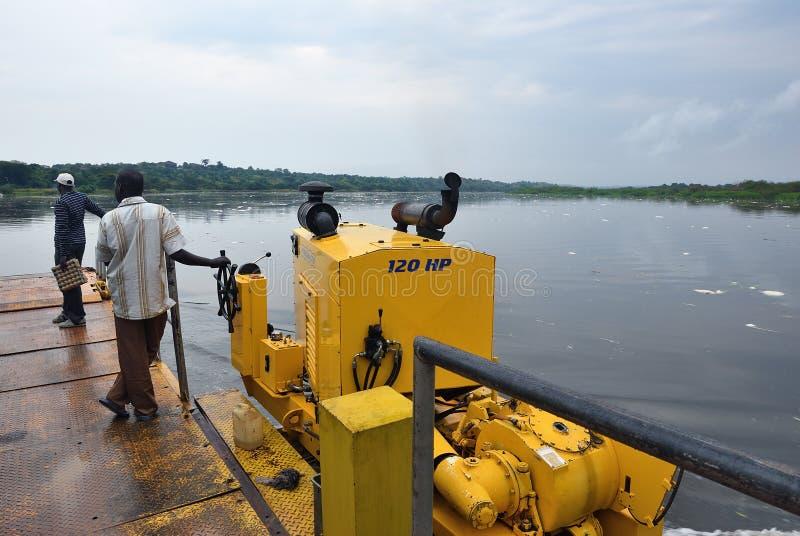 Victoria Nile-rivier in Oeganda, Afrika royalty-vrije stock afbeelding