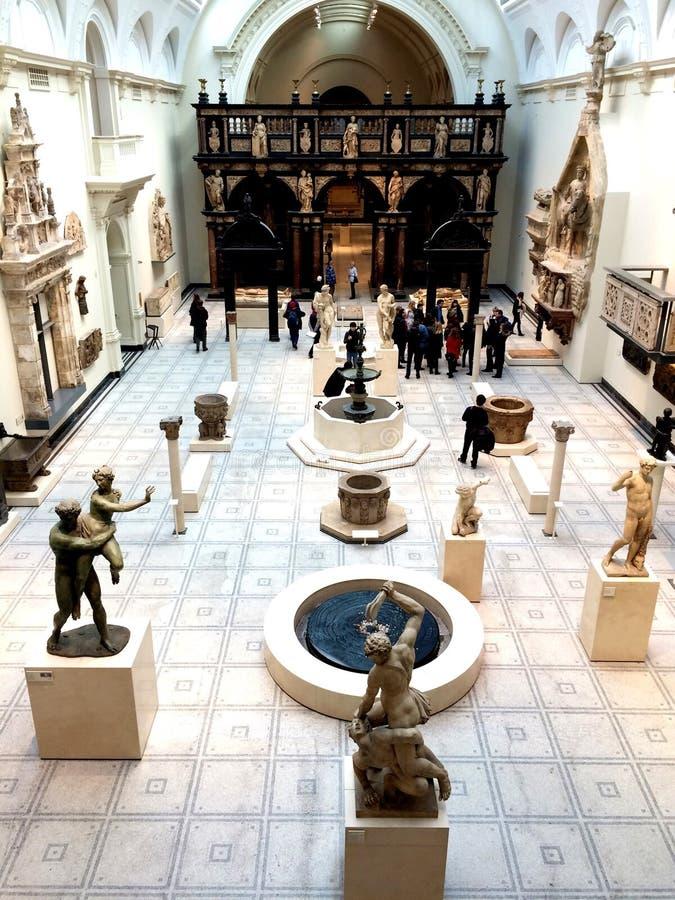 Victoria och Albert Museum England royaltyfria foton