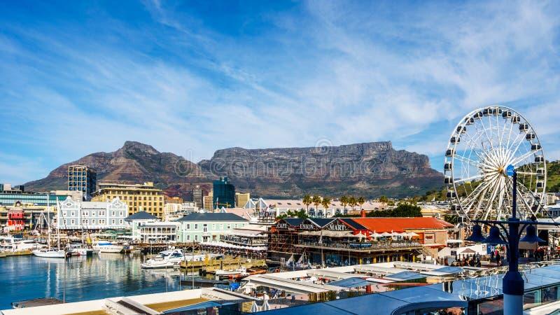 Victoria och Albert Waterfront i Cape Town Sydafrika fotografering för bildbyråer