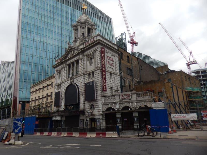 Victoria Palace i London UK arkivfoto