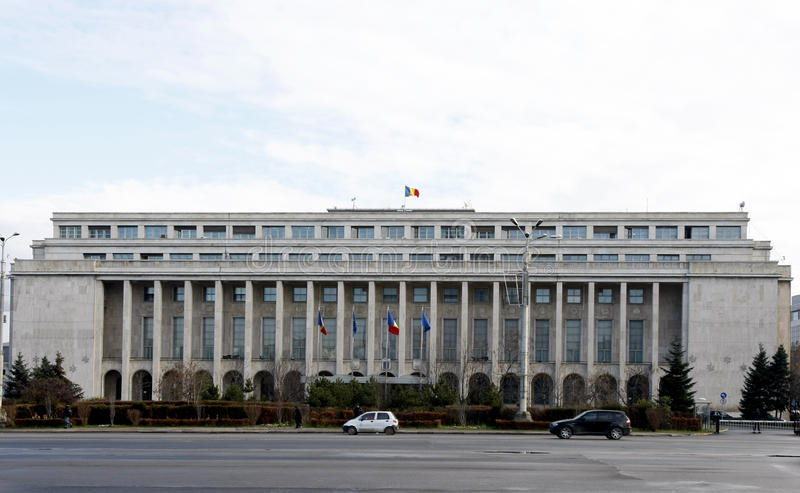 Victoria Palace - Romanian Government stock photos