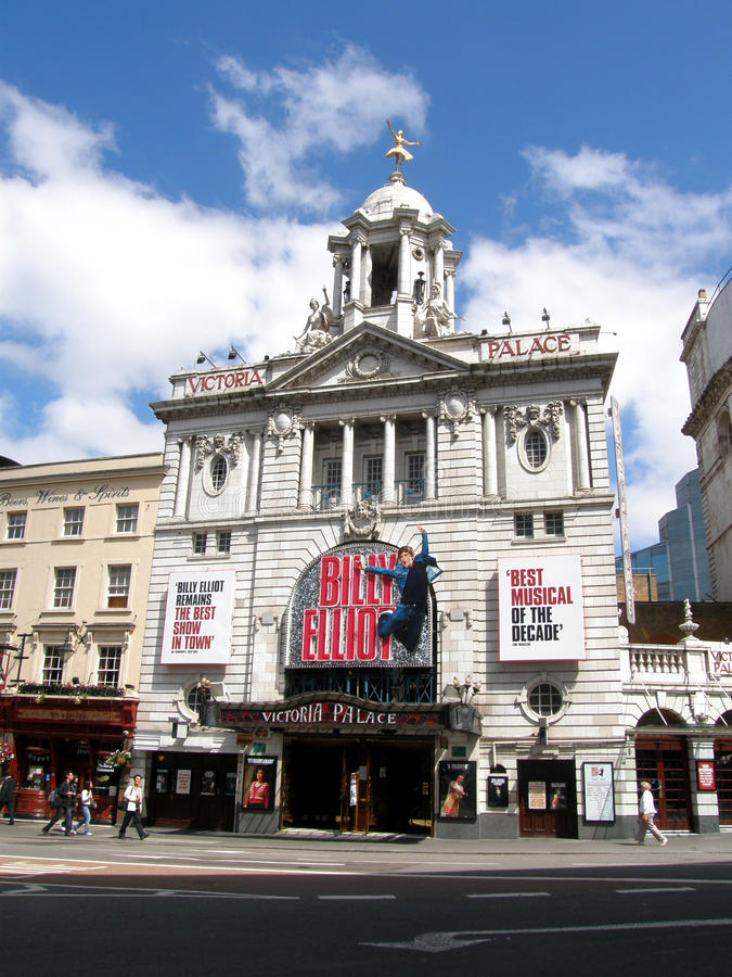 Victoria-Palast-Theater lizenzfreie stockbilder