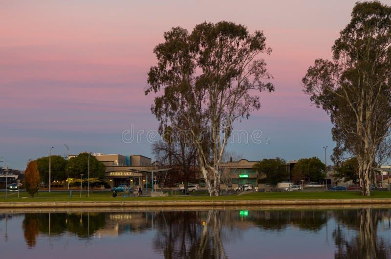 Victoria Park Lake in Shepparton, Australië royalty-vrije stock fotografie