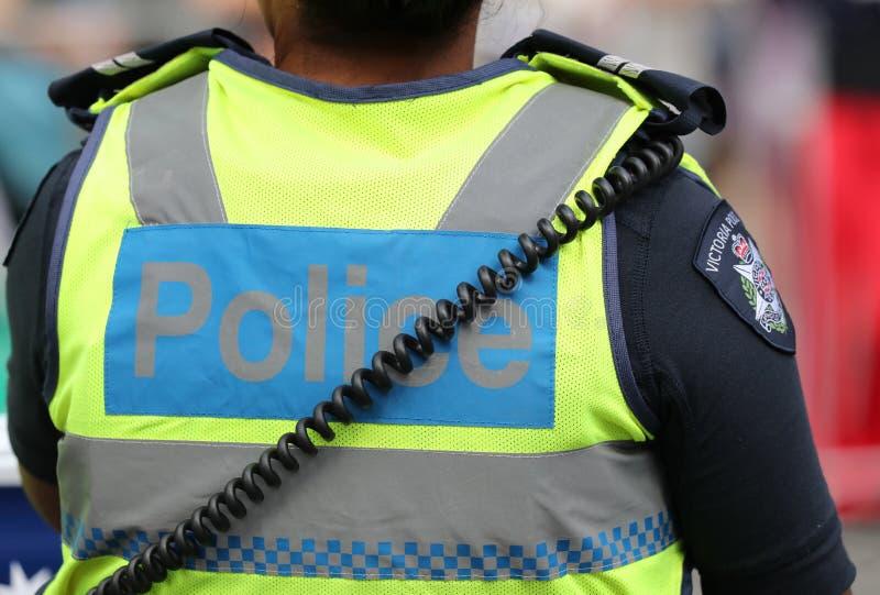 Victoria Police Constable fornece a seguran?a durante a parada 2019 do dia de Austr?lia em Melbourne fotos de stock royalty free
