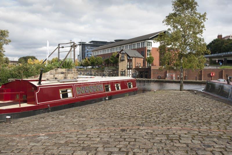 Victoria Quays igualmente conhecida como Sheffield Canal Basin em Sheffield, South Yorkshire, Reino Unido - 13 de setembro de 201 imagens de stock royalty free