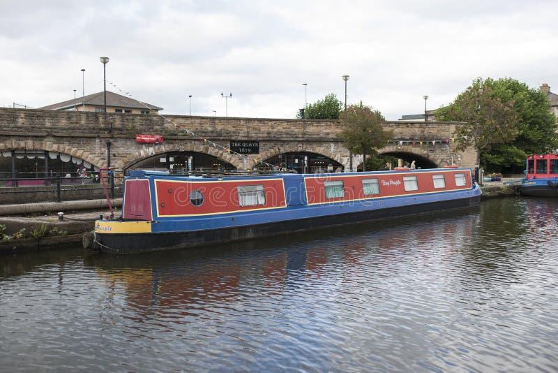 Victoria Quays ook als Sheffield Canal Basin in Sheffield, South Yorkshire, het Verenigd Koninkrijk wordt bekend - 13 September 2 stock afbeeldingen