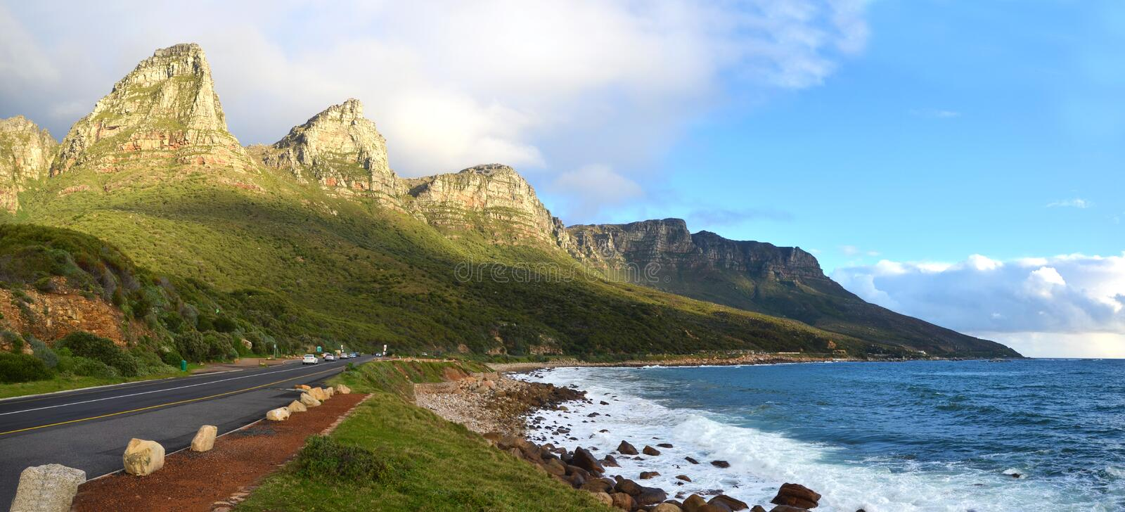 Victoria Road in Cape Town – South Africa. The stunning scenery at Victoria Road in Cape Town – South Africa stock photos