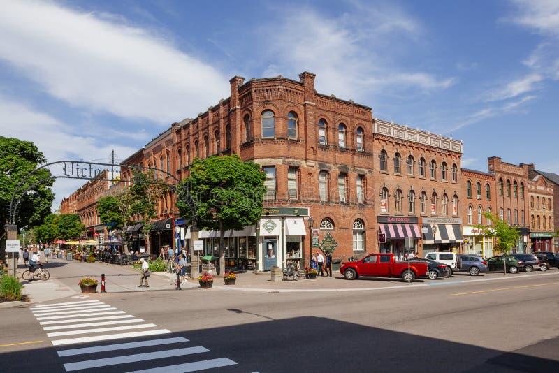 Victoria Row in Charlottetown PEI lizenzfreie stockfotos
