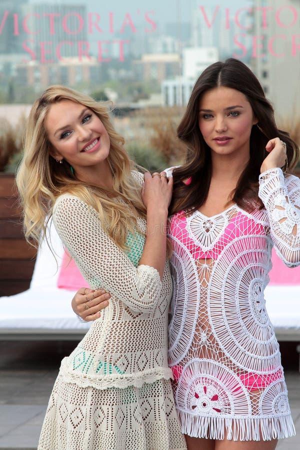 Victoria's Secret, Miranda Kerr, Candice Swanepoel images stock