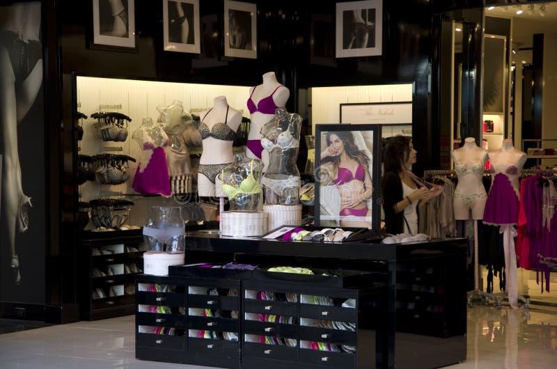 Victoria's secret underwear store royalty free stock photos