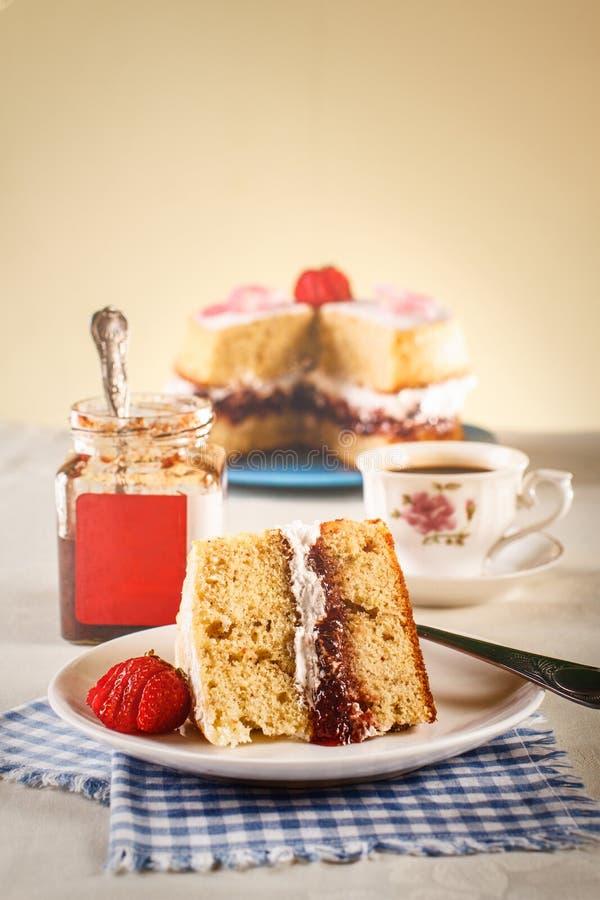 Victoria Sponge Cake arkivfoto