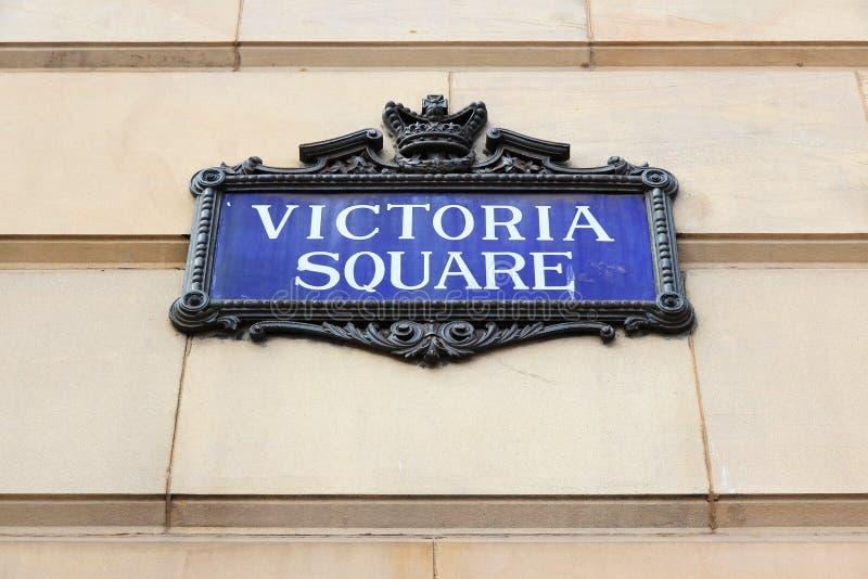 Victoria Square, Birmingham. Birmingham - Victoria Square sign. City in West Midlands, England stock photography