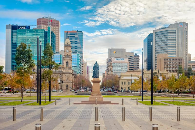 Victoria Square dentro, Adelaide CBD, Sul da Austrália imagens de stock