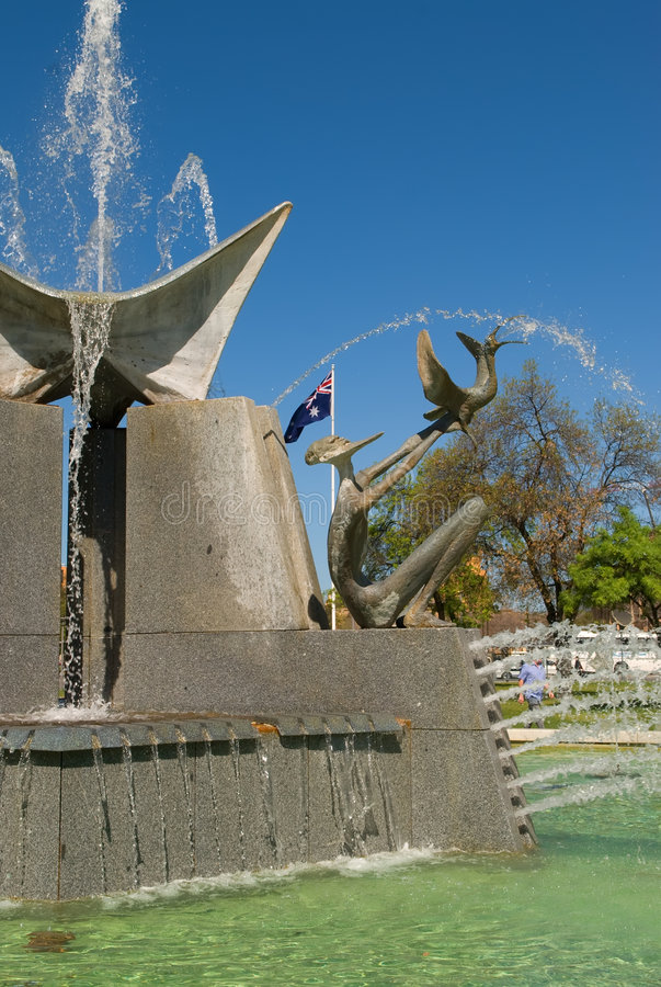 Download Victoria Square Fountain stock photo. Image of water, australian - 6693348