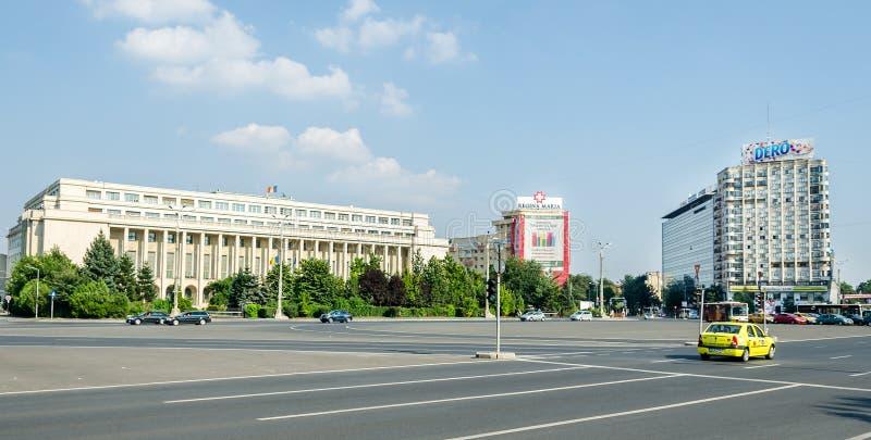 Victoria Square Palatul Victoriei stock fotografie