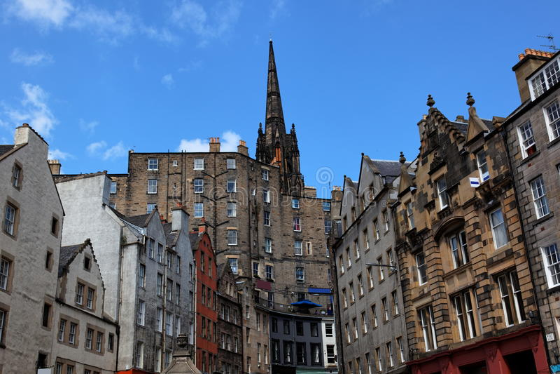 Victoria St. Edinburgh. Scotland. UK. Historic buildings on Victoria St. Edinburgh. Scotland. UK royalty free stock images
