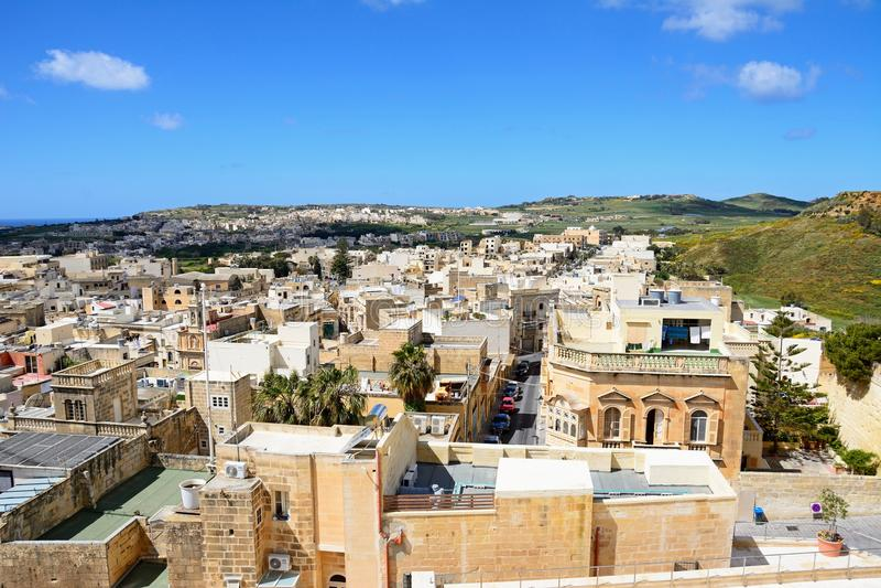 Download Victoria-Stadtdachspitzen, Gozo Redaktionelles Bild - Bild von verstärkt, gran: 106802040