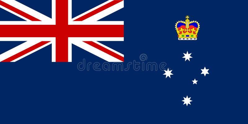 Victoria State Flag royalty illustrazione gratis