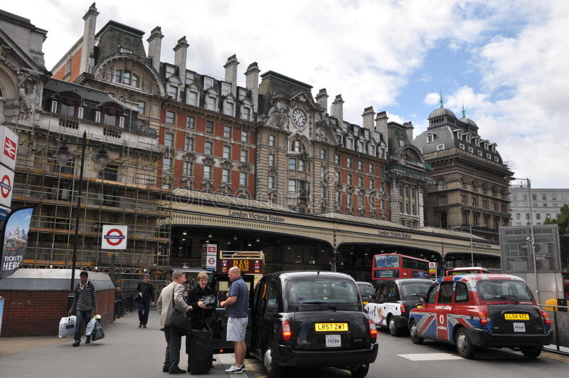 Victoria Station à Londres photos libres de droits