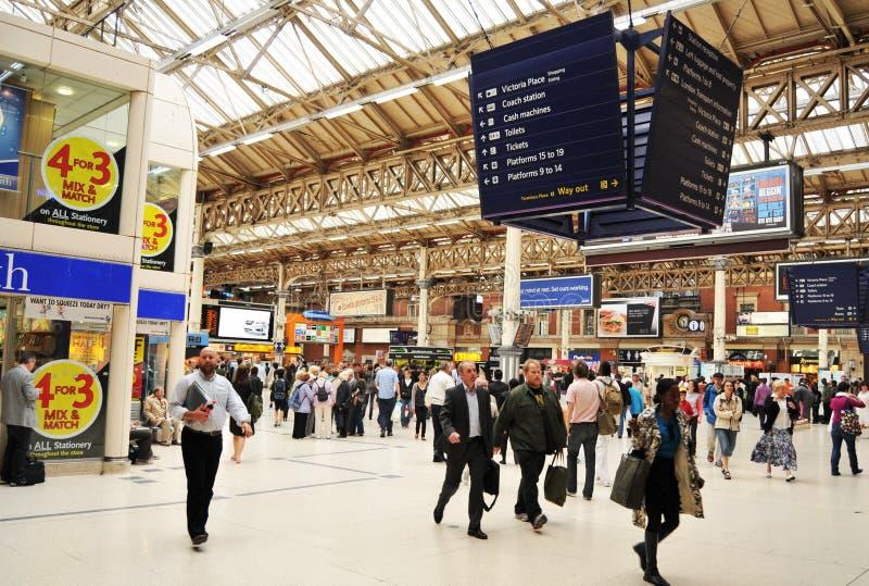 Victoria Station, London stock photo