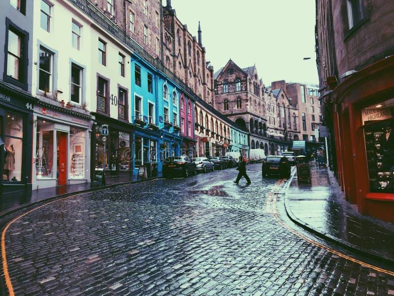 Victoria Street, Edimbourg images libres de droits