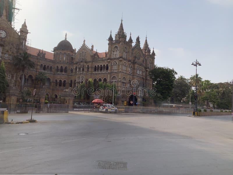 Victoria Terminus, Índia de Mumbai foto de stock royalty free