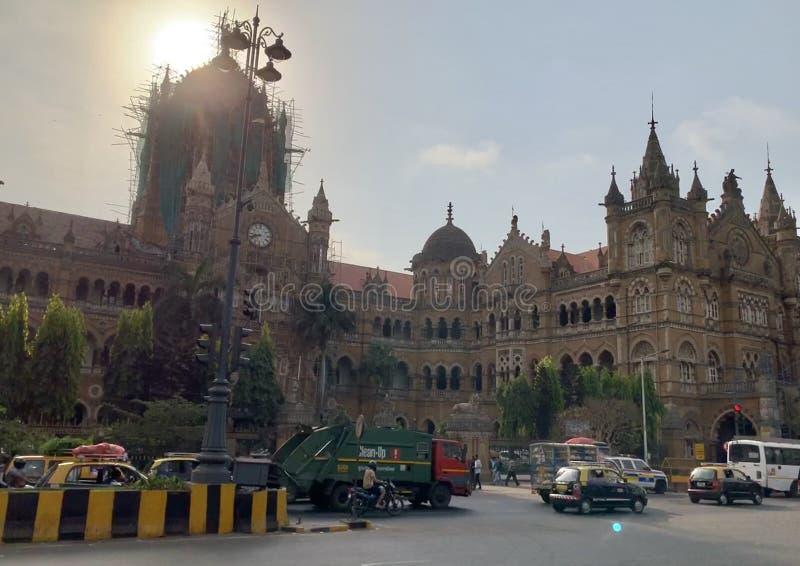 Victoria Terminus, Bombay la India fotografía de archivo libre de regalías